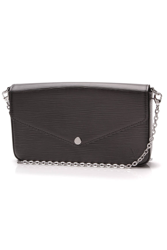 Louis Vuitton Epi Felicie Pochette Bag Black