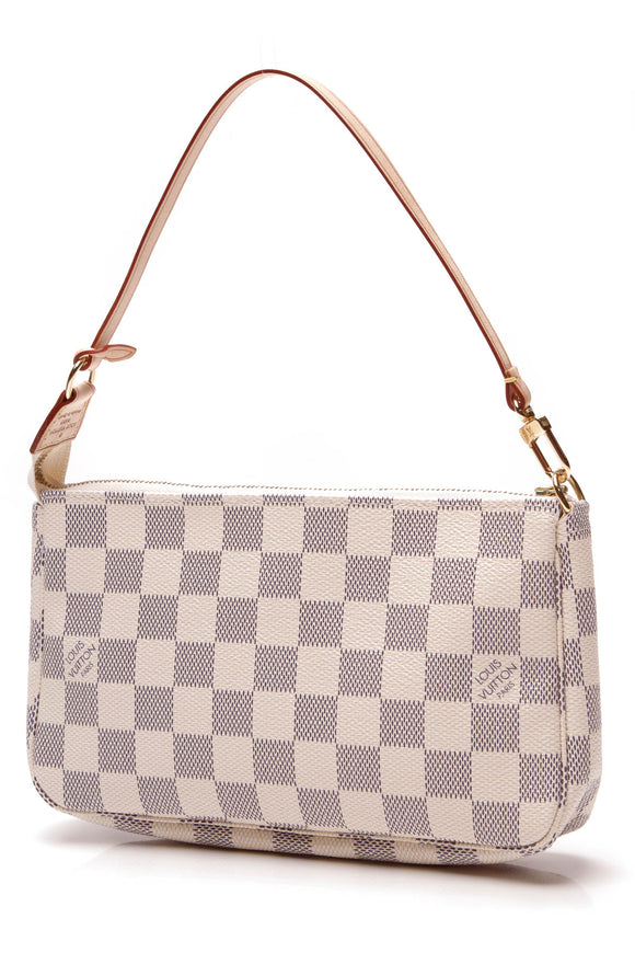 Louis Vuitton Pochette Accessories Bag Damier Azur