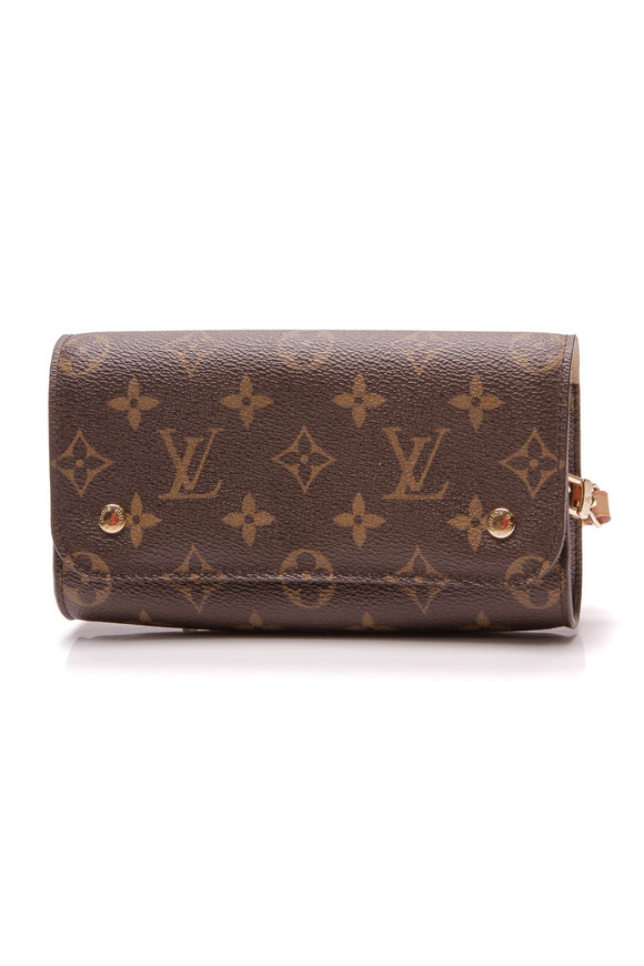 Louis Vuitton Etui PSP Wristlet Bag Monogram Brown