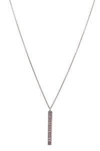 Tiffany & Co. Atlas Bar Pendant Necklace Silver