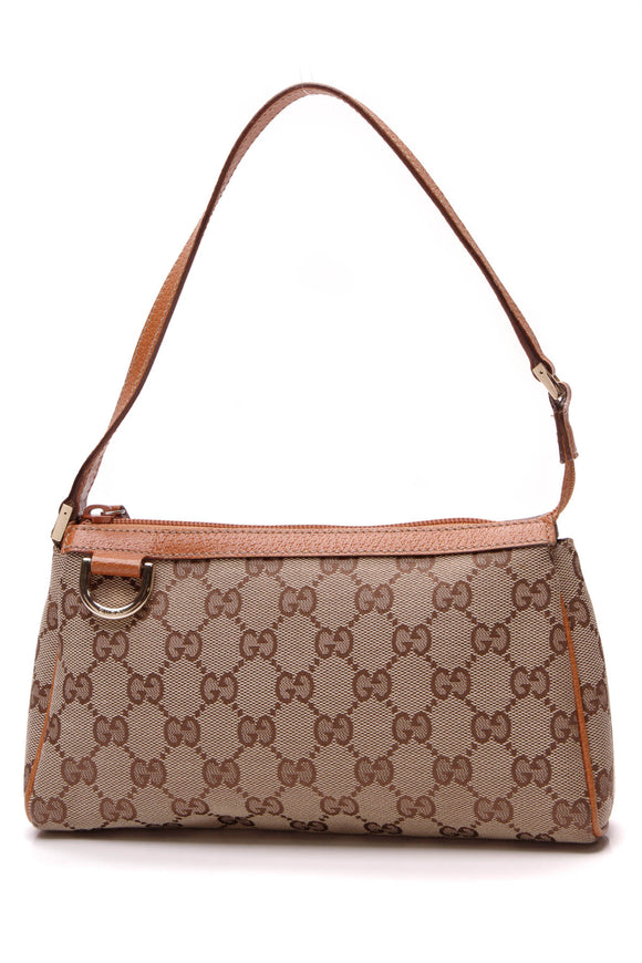 Gucci Abbey D-Ring Pochette Bag Signature Canvas