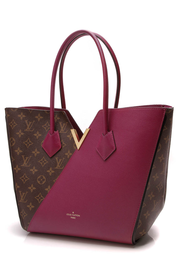 Louis Vuitton Kimono Tote Bag Monogram Aurore Brown Magenta