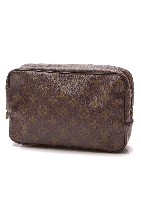 Louis Vuitton Vintage Trousse Toilette 23 Toiletry Case Monogram Brown