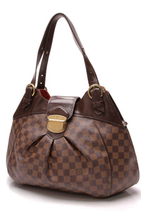Louis Vuitton Sistina GM Bag Damier Ebene Brown