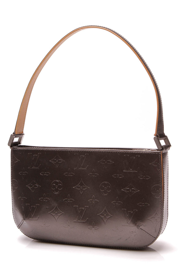Louis Vuitton Monogram Mat Fowler Bag Dark Gray