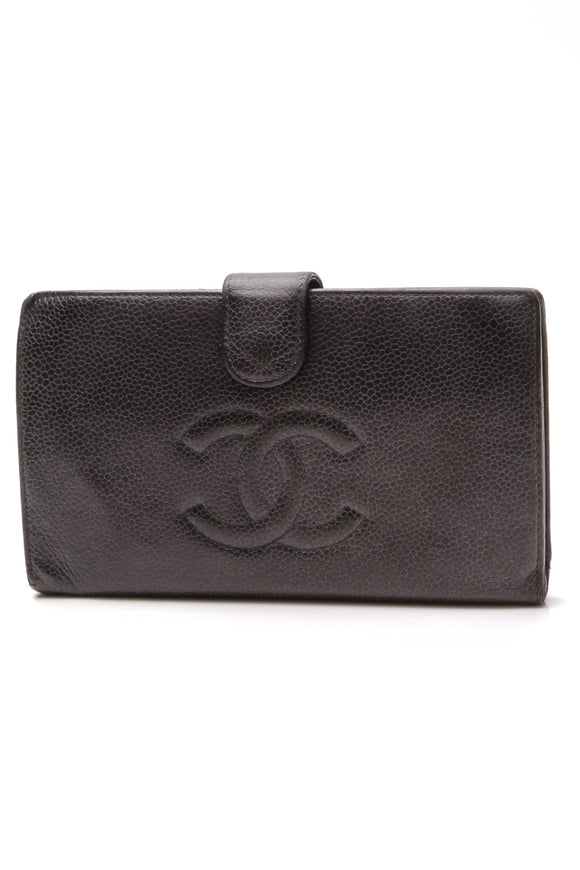 Chanel Timeless CC French Wallet Black Caviar