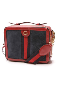 Gucci Ophidia GG Small Shoulder Bag Red Navy