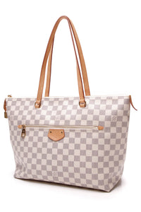 Louis Vuitton Iena MM Tote Bag Damier Azur