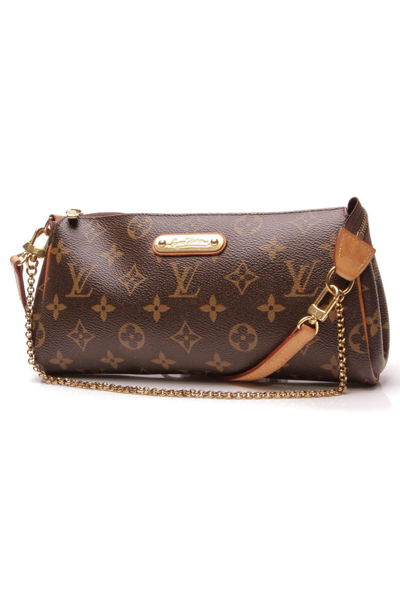 Louis Vuitton Eva Clutch Crossbody Bag Monogram