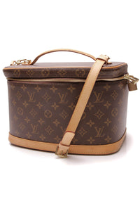 Louis Vuitton Nice Cosmetic Beauty Case Monogram Brown
