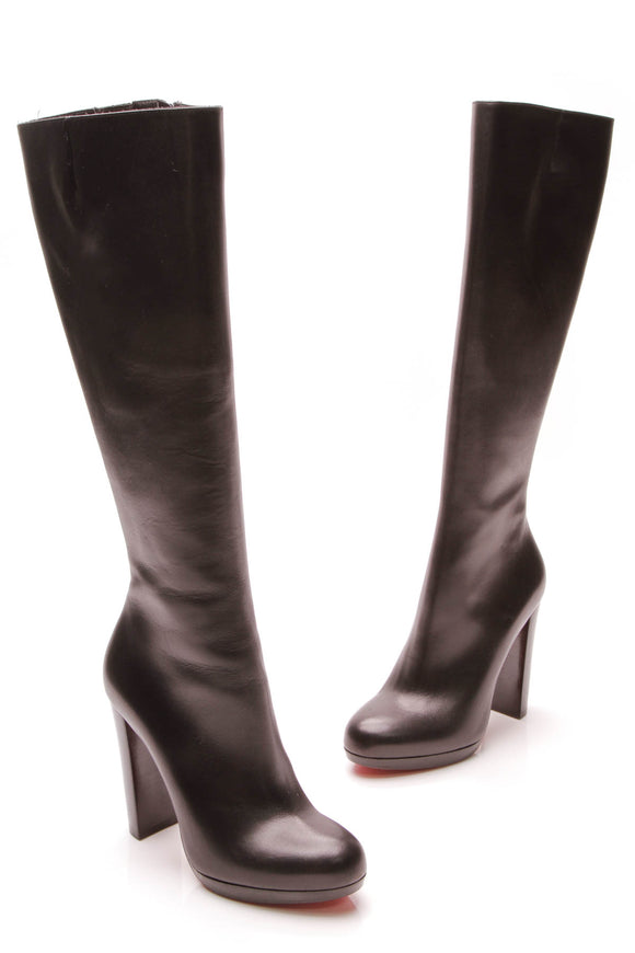 Christian Louboutin Mirabelle 120 Tall Boots Black Size 36.5