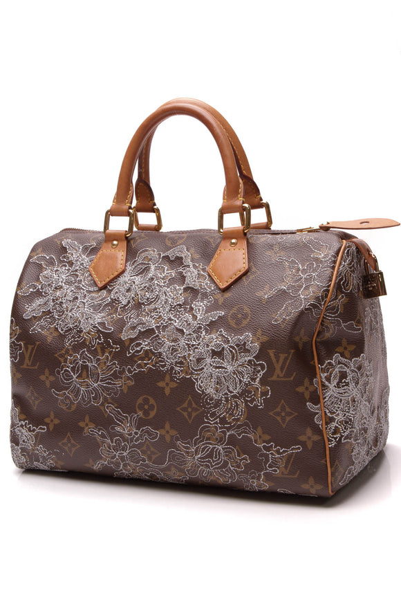 Louis Vuitton Dentelle Speedy 30 Bag Monogram