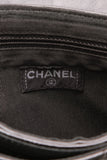 Chanel Quilted Typewriter Flap Bag Black Patent