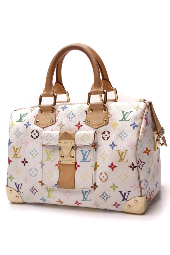 Louis Vuitton Speedy 30 Bag White Multicore Monogram