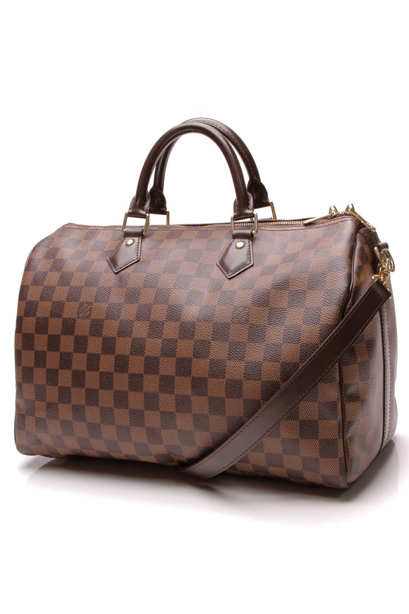 Louis Vuitton Speed Bandouliere 35 Bag Damier Ebene Brown
