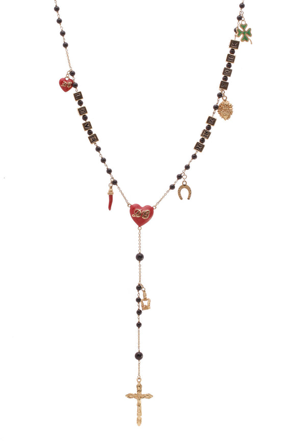 Dolce & Gabbana Charms Rosary Necklace Gold