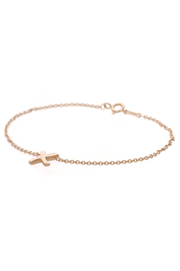 Tiffany & Co. X Chain Bracelet Rose Gold