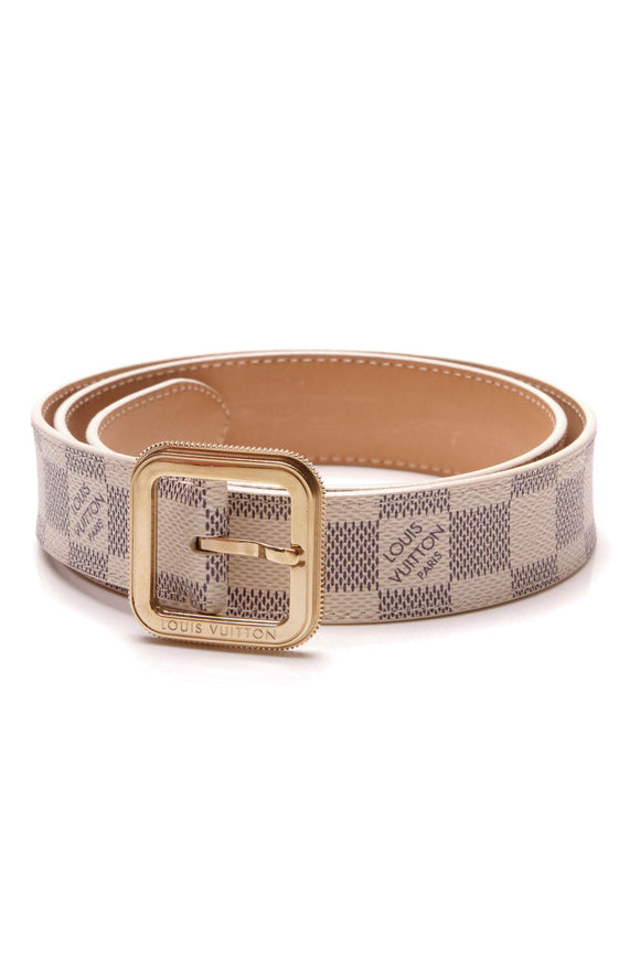 Louis Vuitton Tresor 30mm Belt Damier Azur Size 32
