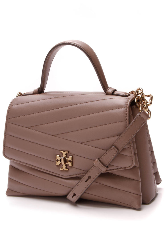 Tory Burch Chevron Kira Satchel Bag Brown