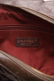 Chanel Easy Small Flap Black Brown Caviar