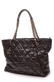 Chanel Coco Pleats Large Tote Bag Black