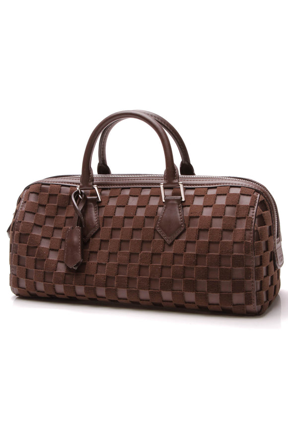 Louis Vuitton Speedy Cubic East/West Bag Damier Marron Brown