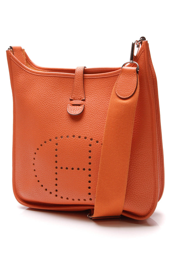 Hermes Evelyne III PM Bag Orange Clemence