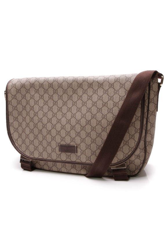 Gucci Messenger Bag Supreme Canvas Beige