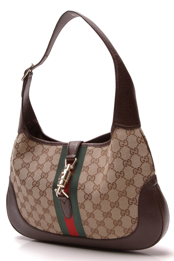 Gucci Jackie Hobo Bag Signature Canvas Brown