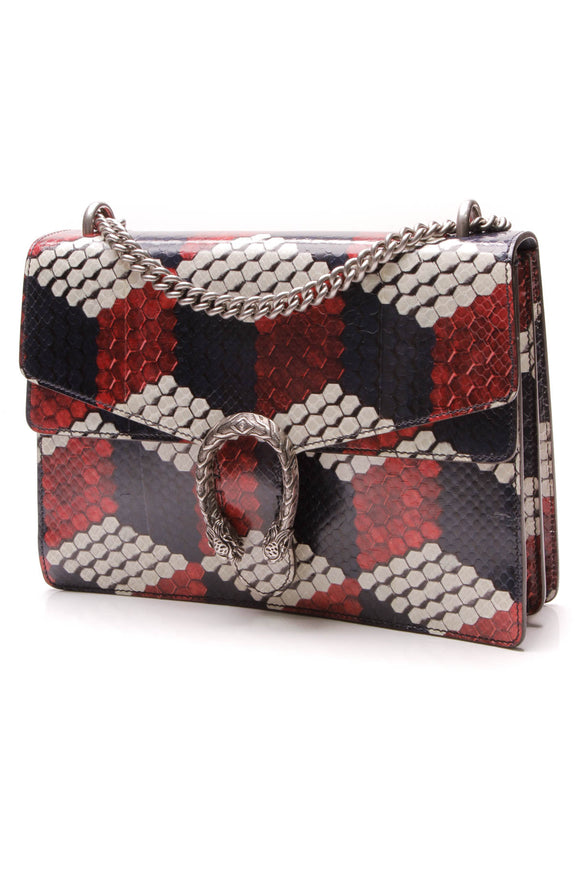 Gucci Cubic Snakeskin Medium Dionysus Shoulder Bag Multicolor
