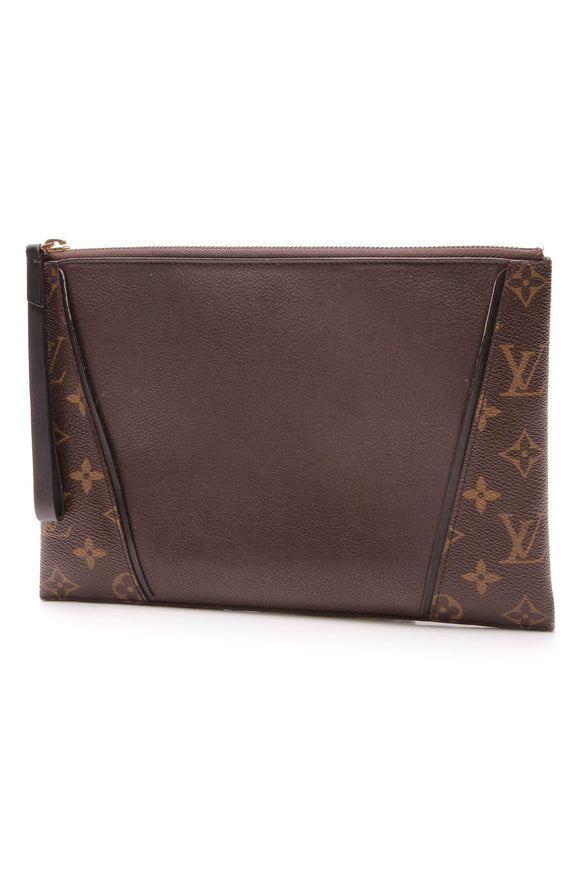Louis Vuitton W Pochette Bag Chocolate Monogram