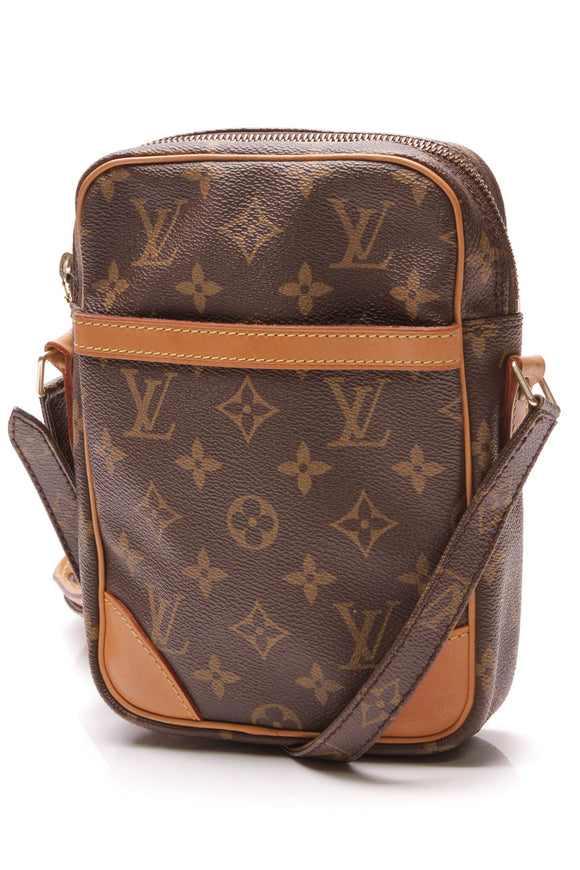 Louis Vuitton Vintage Danube Crossbody Bag Monogram Brown