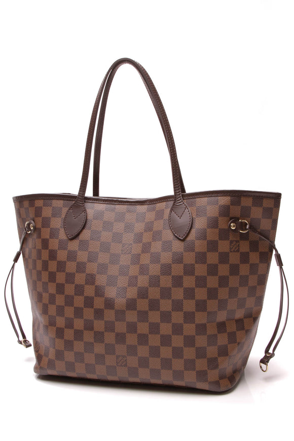 Louis Vuitton Neverfull MM Tote Bag Damier Ebene Brown