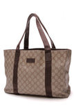 Gucci GG Plus Medium Tote Bag Supreme Canvas Beige Brown