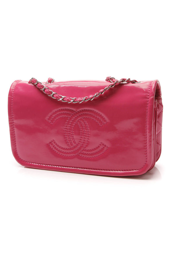 Chanel Lipstick Medium Flap Bag Pink Patent