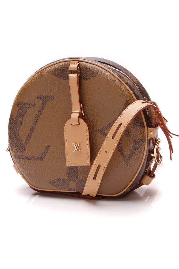 Louis Vuitton Boite Chapeau Souple Bag Giant Reverse Monogram Brown