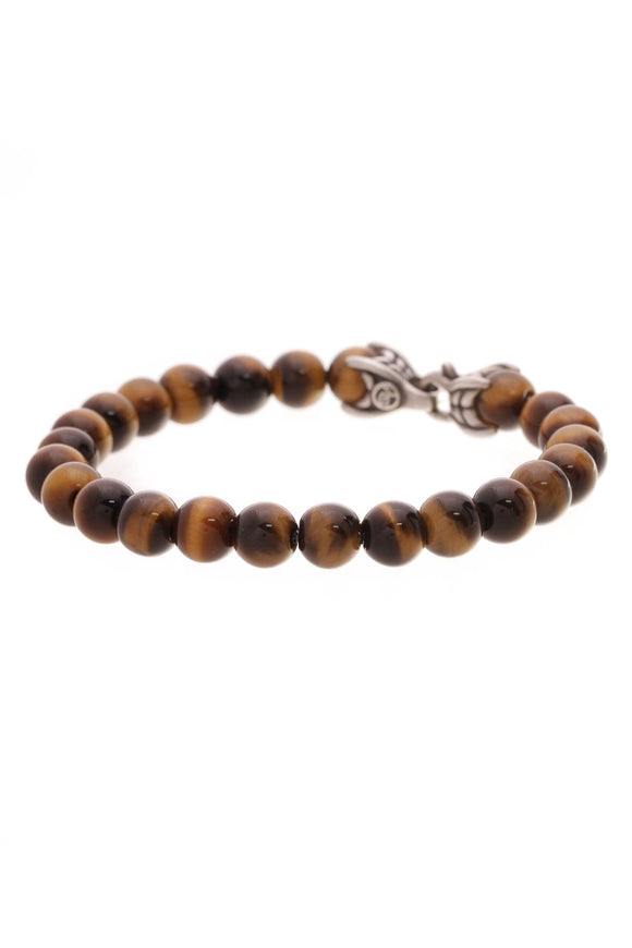 David Yurman Tiger's Eye Spiritual Beads Bracelet Silver