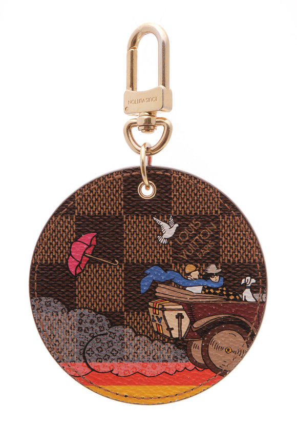 Louis Vuitton Illustre Evasion Bag Charm Monogram Brown