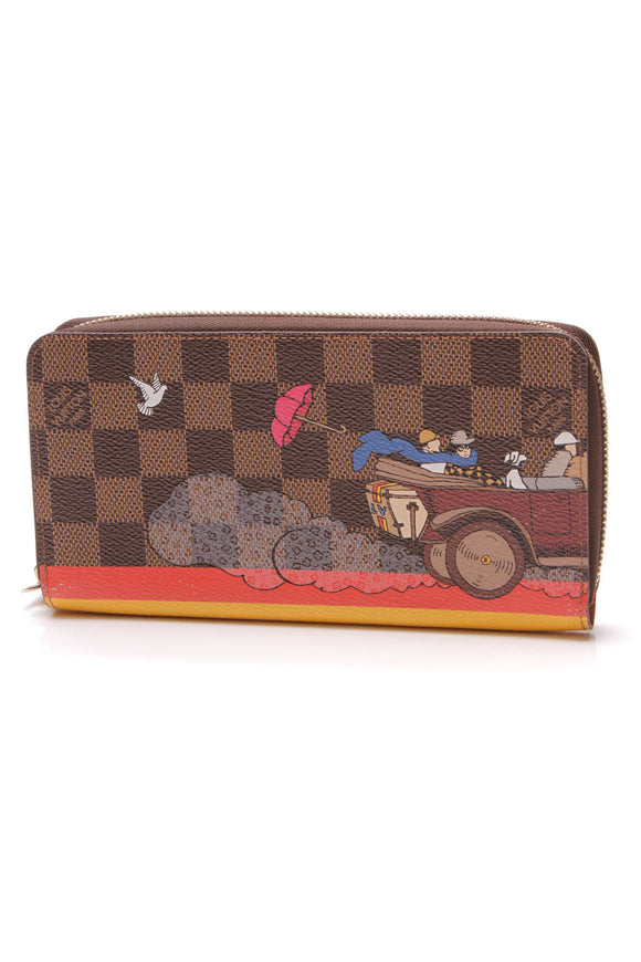 Louis Vuitton Illustre Evasion Zippy wallet Damier Ebene Poppy