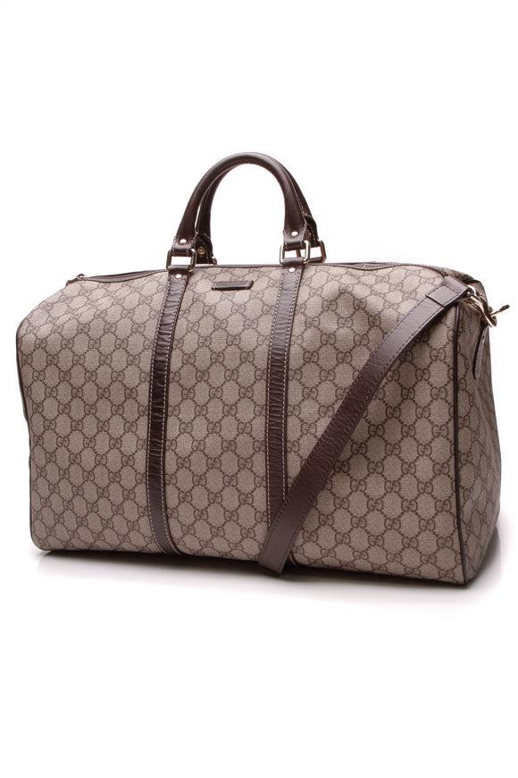 Gucci Carryall Duffle Bag Supreme Canvas Beige