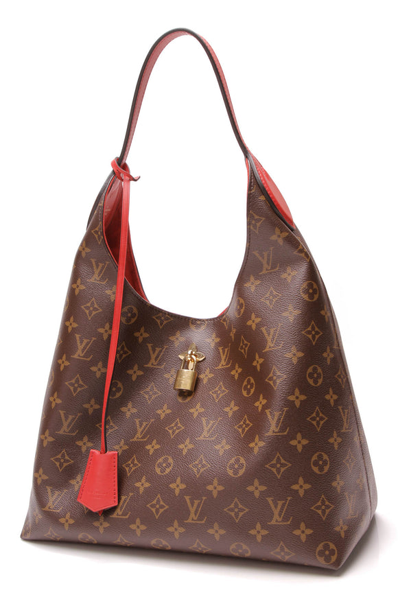 Louis Vuitton Flower Hobo Bag Monogram Coquelicot Brown Red
