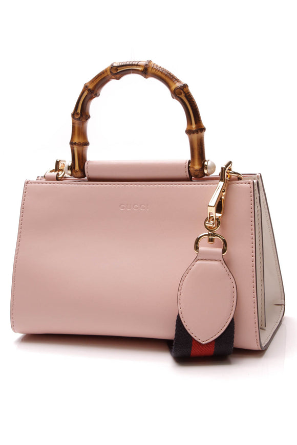 Gucci Nymphaea Bamboo Mini Top Handle Bag Pink
