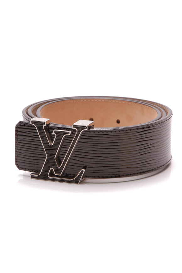 Louis Vuitton Electric Epi 40mm Initiales Belt Black Size 36