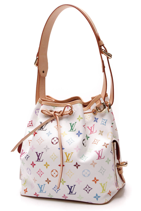 Louis Vuitton Petit Noe Bag White Multicolore Monogram