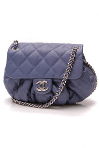 Chanel Chain Around Flap Bag Blue Washed Lambskin