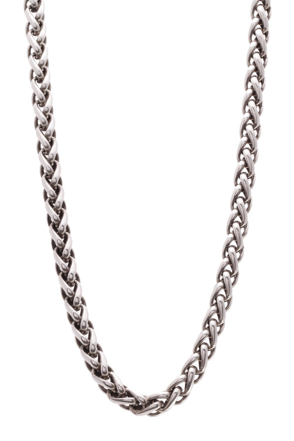David Yurman 6mm Wheat Chain Necklace Silver Gold