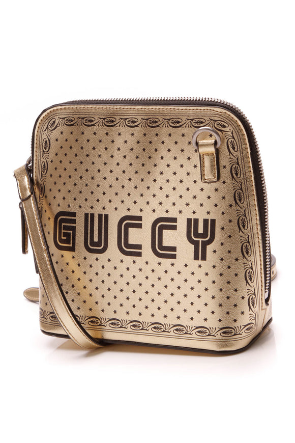 Gucci Guccy Moon Steller Mini Crossbody Bag Gold