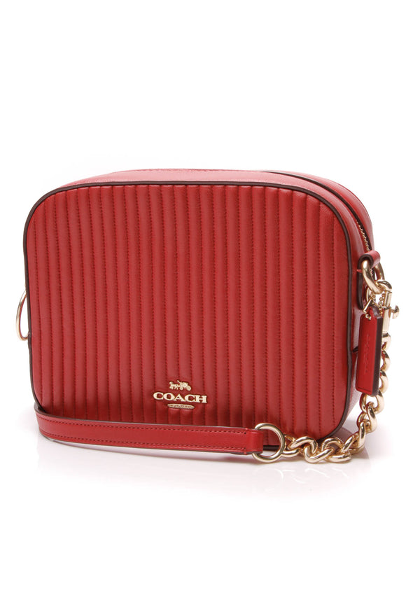 Coach Quilted Camera Bag Red