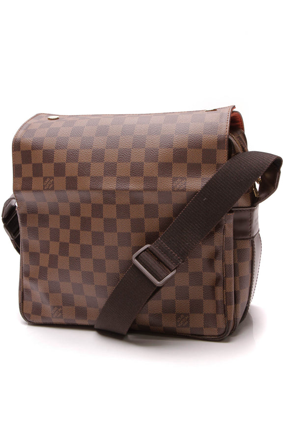 Louis Vuitton Naviglio Messenger Bag Damier Ebene Brown