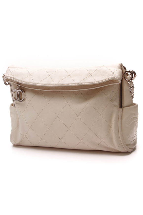 Chanel Ultimate Soft Hobo Bag Ivory